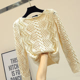 Hollow Out Knit Sweater SE