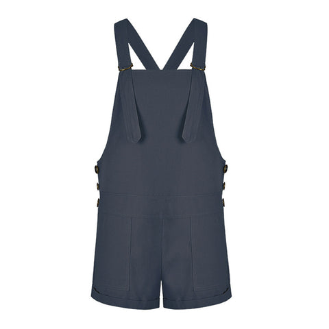 Vintage Overalls Shorts Cotton Suspenders Rompers