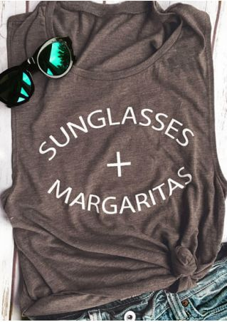 Tank Top Sunglasses Margaritas
