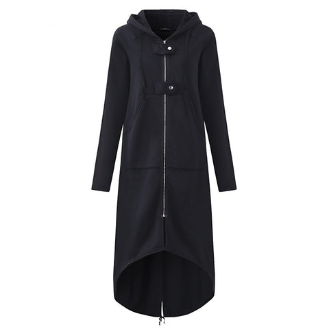 Jacket Women Hooded Long Sleeve