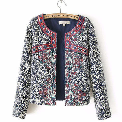Jacket Female Embroidered Coat For Women Embroidery Slim tops