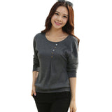 t shirtl loose bat sleeve cotton