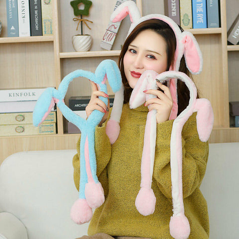 Moving Rabbit Ears Cute Cap Bunny Funny Pinch Hat SE