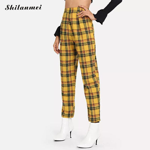 c1b16cca4d03 Yellow Green Plaid Pants SE. Yellow Green Plaid Pants SE. Regular price   22.24. View · Flare pant Yellow Plaid Overalls two pieces Jumpsuit SE