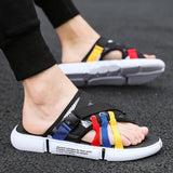 Slides Colorful Casual Slippers Beach Sandals Men SE