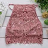 Lace Sleeveless Vest Hollow Out Crop Tank Tops SE