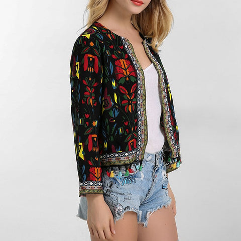 Jackets Embroidery Autumn Women Tops