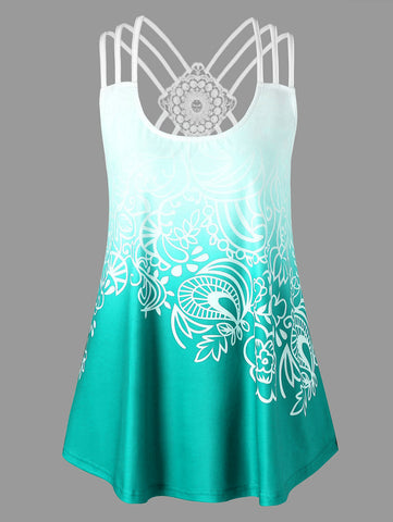 Tank Top Ombre Ethnic Summer