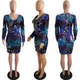 Sequins Bodycon Mini Dress SE