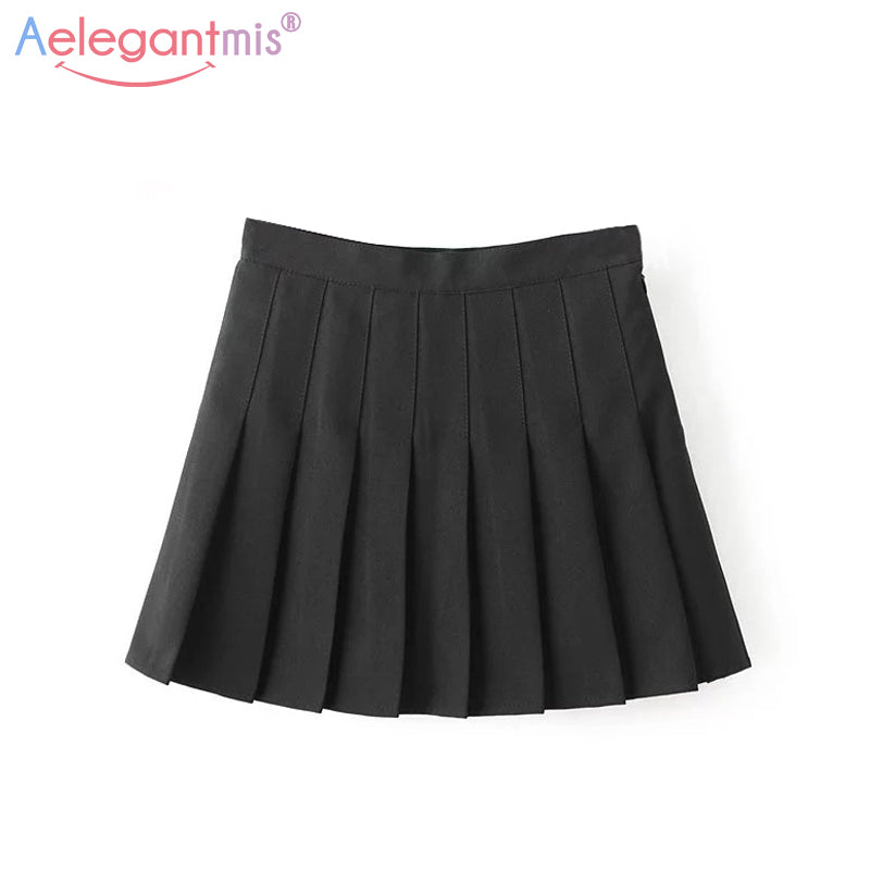 5a8691644c Women Cute High Waist Mini A-line Sailor Skirt – deevybuy