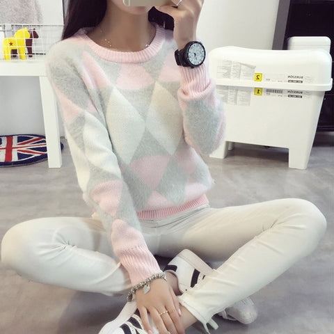 Pattern Knitted Sweater SE