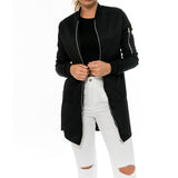 Jackets Stand Collar Solid Brief Cardigan