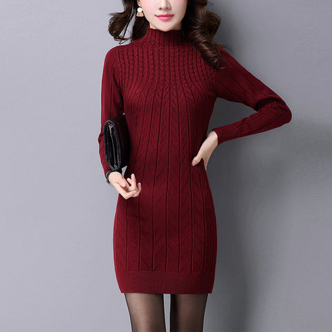 Dresses women Autumn Knitted Sweater