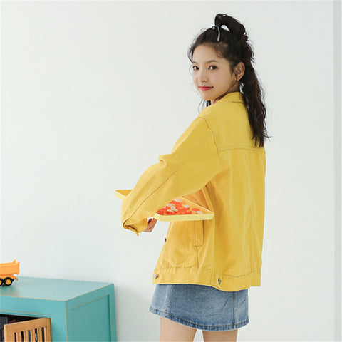 Yellow Coats Harajuku Short Denim Jacket