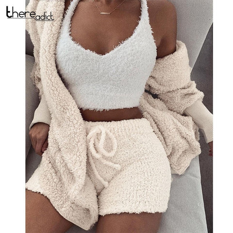Oversize Cardigan and Drawstring Shorts 2 Piece Set RI