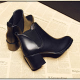 high heel thick ankle boots RI