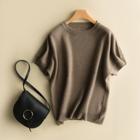 Short Sleeve Pullover Sweater SE