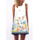 Dress Short  Sleeveless Summer Casual