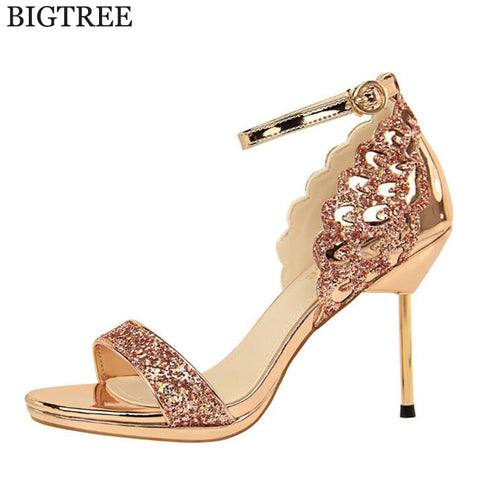 2017 Summer Sandals Women Bohemia Rhinestone Flats Shoes Roman Style Gold Gladiator Sandals Women Shoes Crystal Snake Boots Bright And Translucent In Appearance Women's Shoes