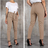Casual Slim Chiffon Thin Pants