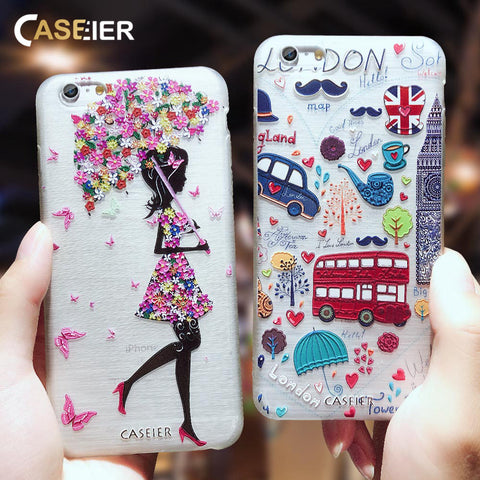 94a4678821 CASEIER Fashion Patterned Phone Cases For iPhone 7 8 Plus Soft Silicone TPU  Cover For iPhone