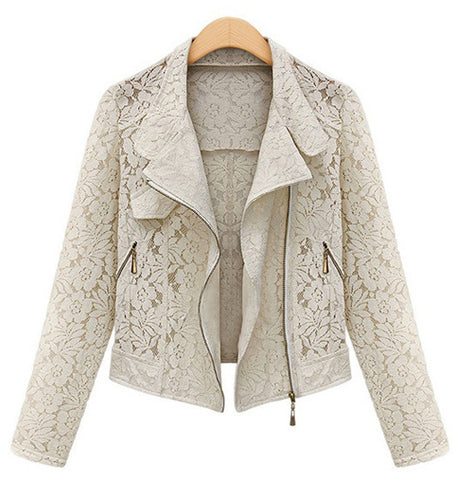 Jacket Summer Autumn Fashion Beige Black Crop Casual