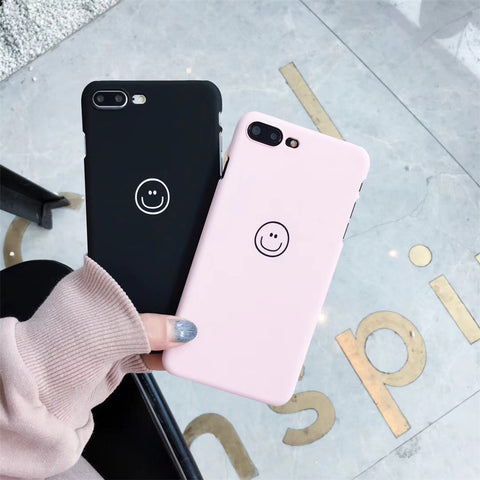 e156e02d7628a0 Cartoon Candy Color Smile Couple Phone Cases For iphone 6 Cute Cases Hard  PC Case For