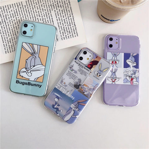Bugs Bunny Transparent Case For iPhone RI