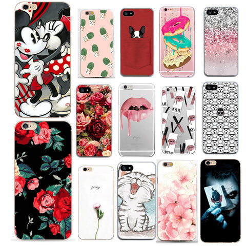 4ac9497ee9 Case For Iohone 8 Cover Flower Print Clear Transparent Skin For Iphone 8 7  7 Plus