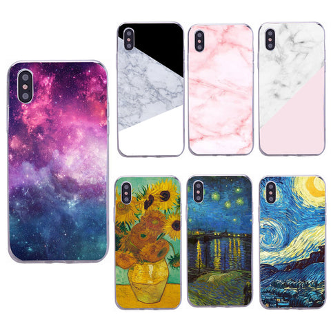 f2dbffc25715 Case For iPhone 6s 6 7 Plus 8 Plus Transparent Soft Silicone TPU Cover Van  Gogh