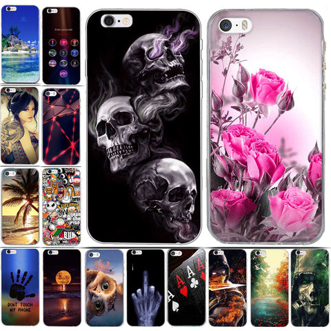 3c46003d63d45 Case for Iphone 6 6s Case Cover Silicon Cover for iPhone 5 5S 6 6S Plus