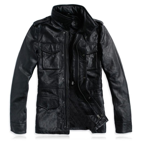 hanting leather jacket