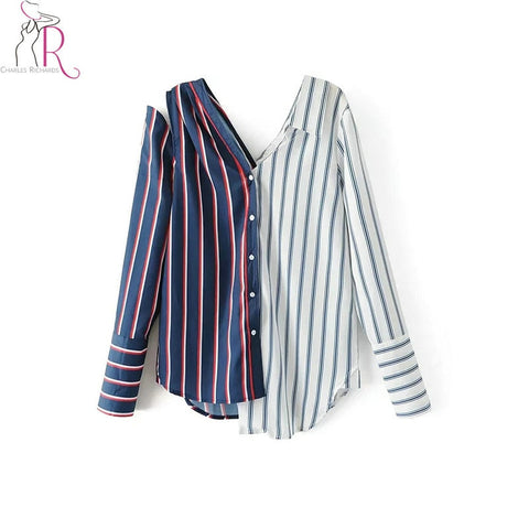 Striped Long Sleeve Blouse SE