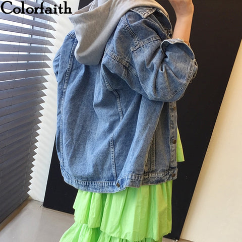 Hooded Korean Denim Jacket RI