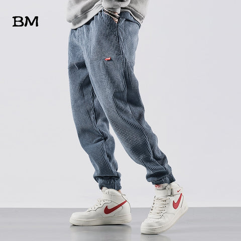 Corduroy Hip Hop Men Jogger Pants RI
