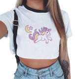 Tshirt Women Unicorn Sexy