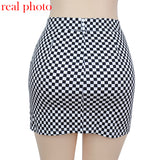 high waist checkered skirts
