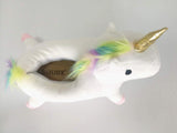 Shoes Winter lovely Cartoon Plush Chausson Licorne White