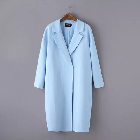 jacket pure color long suit collar windbreaker