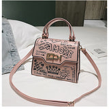 Graffiti Handbags PU Leather Small Flap Crossbody Bags SE