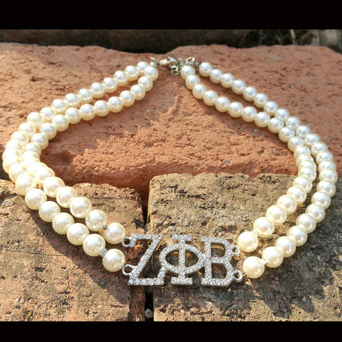 double line Pearl Necklace Jewelry SE
