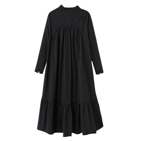 dress new spring winter stand collar long sleeve
