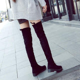 Over The Knee Suede Leather Long Boots