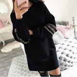 dress Women Autumn Elegant Office Casual Long Sleeve Party