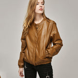 Jacket Fashion O-Neck Zipper Bright Colors Coats