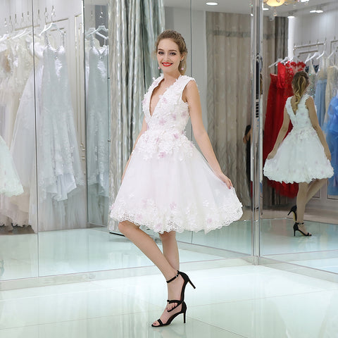 Weddings & Events Brave Hes Bride Custom Cheap New Flower Sleeveless Lace Up Back Above Knee Mini Pink Short Cocktail Dresses Vestido De Cocktail
