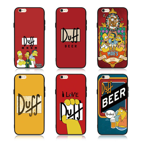 FATPERSON America Cartoon Cases For iPhone 6S 6  7 8 Plus 7Plus DUFF BEER Phone Case for iphone 5s 5 SE 10 X Black soft cover