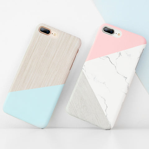 iPhone X iPhone 5S 5 SE Case Ultra Thin Marble Wood Patterned Phone Bag Cases For iPhone 7 6 6S Plus Funda Accessory
