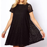 Dress Women Hollow Out Lace Sexy Dress