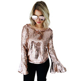 Long Flare Sleeve Ladies Shirt Blouse PU22